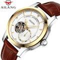 AILANG автоматические механические часы  мужские деловые классические очаровательные мужские часы  водонепроницаемые мужские часы 50 м