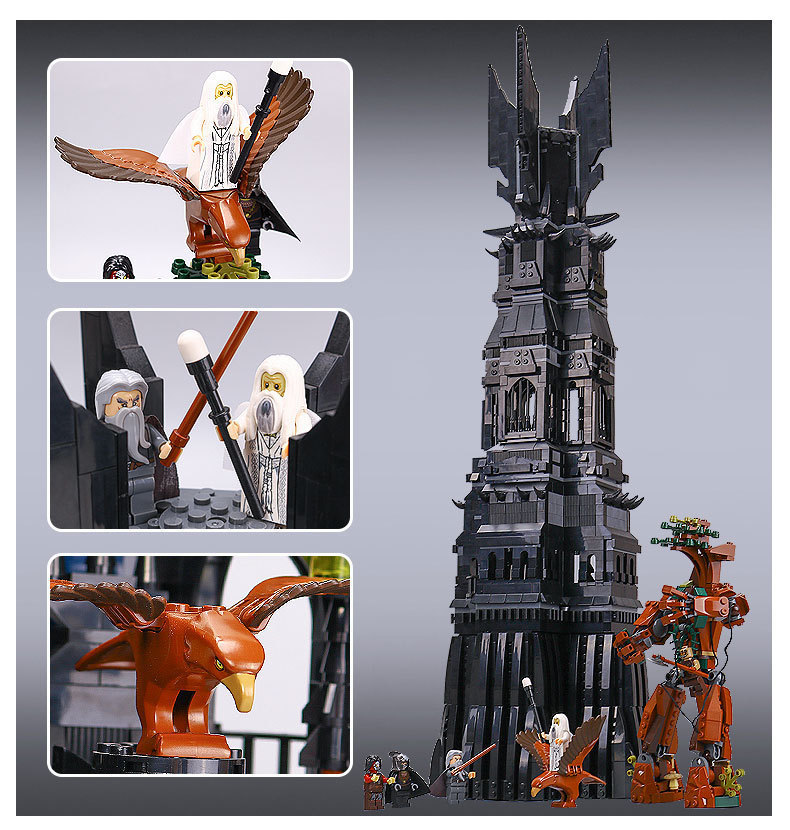 New 16010 2430Pcs Lord of the Rings The Tower of Orthanc Model Building Kits Blocks Bricks Toys Gift 10237 big size toy hot sale the hobbit lord of the rings mordor orc uruk hai aragorn rohan mirkwood elf building blocks bricks children gift toys