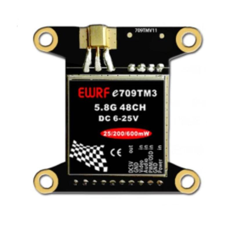 E709MT3 5.8G 40CH 25mW/200mW/600mW Adjustable AV Transmitter w/ Mounting Hole for Flight Controller RC Toys VS Eachine TX526 fx fx796t fx799t micro 5 8g 40ch 200mw av race transmitter