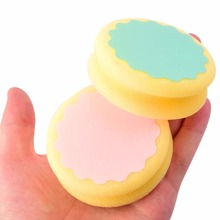 Painless Hair Removal Depilation Sponge Double-sided Pad Round Shape Waxing Polishing Face Arm Leg Hair Removal Tool