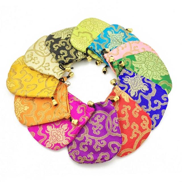 aliexpress: acheter pas cher petit soie bijoux poche floral