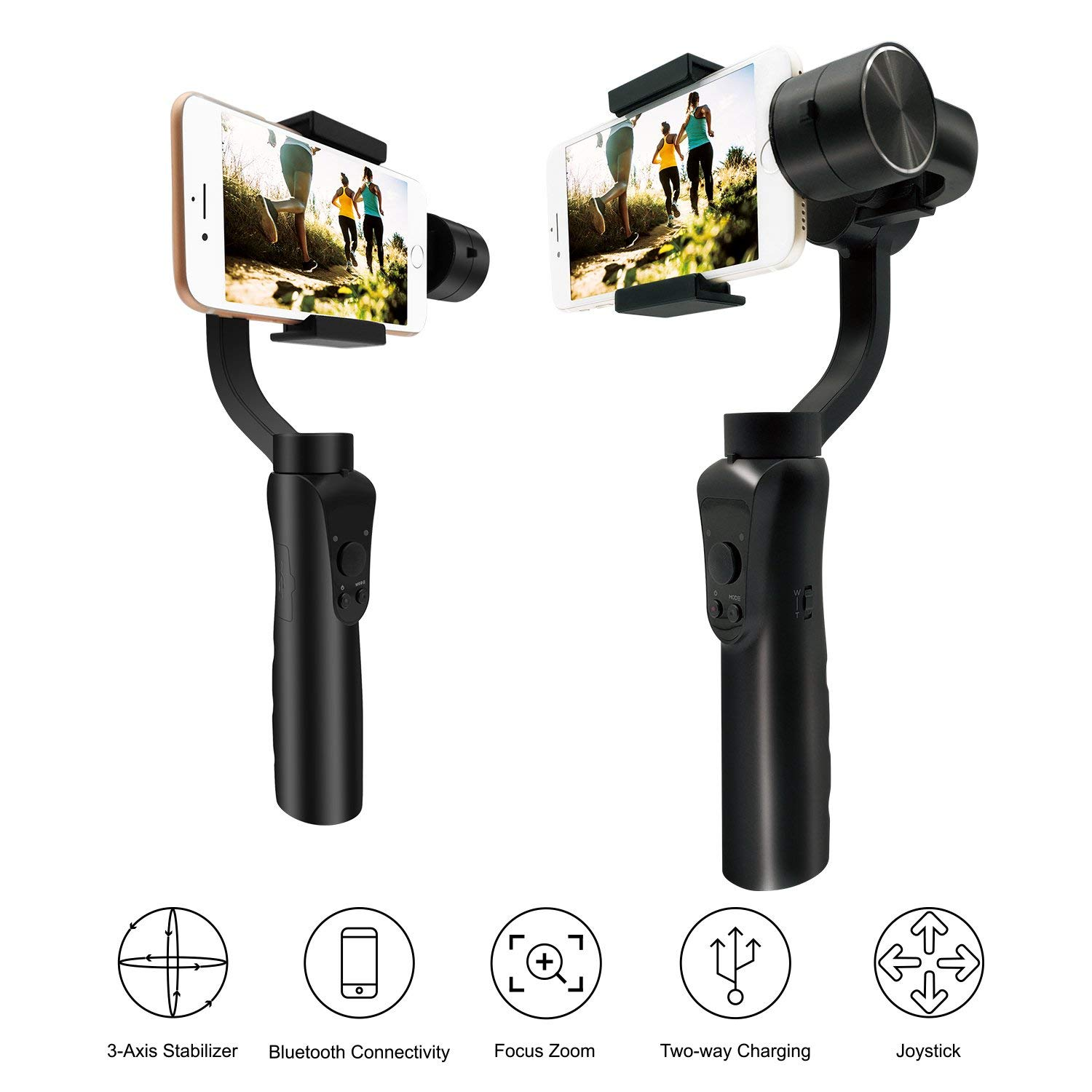 3 Axis Handheld Gimbal Stabilizer, Selfie Stick Travel Gimbal-Intelligent Focus Pull&Zoom Capability Bluetooth APP Controls, O3 Axis Handheld Gimbal Stabilizer, Selfie Stick Travel Gimbal-Intelligent Focus Pull&Zoom Capability Bluetooth APP Controls, O