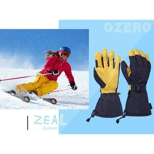 Image 4 - OZERO Invernale di Sci Guanti Sci Snowboard Snowmobile Del Motociclo Mascherine di Guida 3M di Sport Antivento Impermeabile Guanti Caldi Per Gli Uomini donna