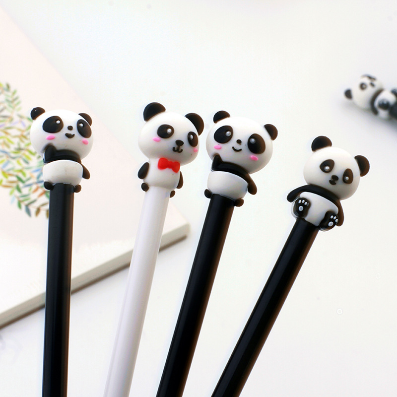 Cute Panda Gel Pen For Writing Kawaii 0.5 Mm Black Ink Neutral Pen School Office Supplies Promotional Gift
