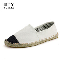 Hemp Shoes Men 2019 Summer Casual Luxury Brand Loafers Espadrilles Designer Fashion Slip on Canvas Man