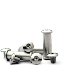 Round head screw rivet Rivet to lock Buckle small straight knife T8 plum fasten nail 2pcs