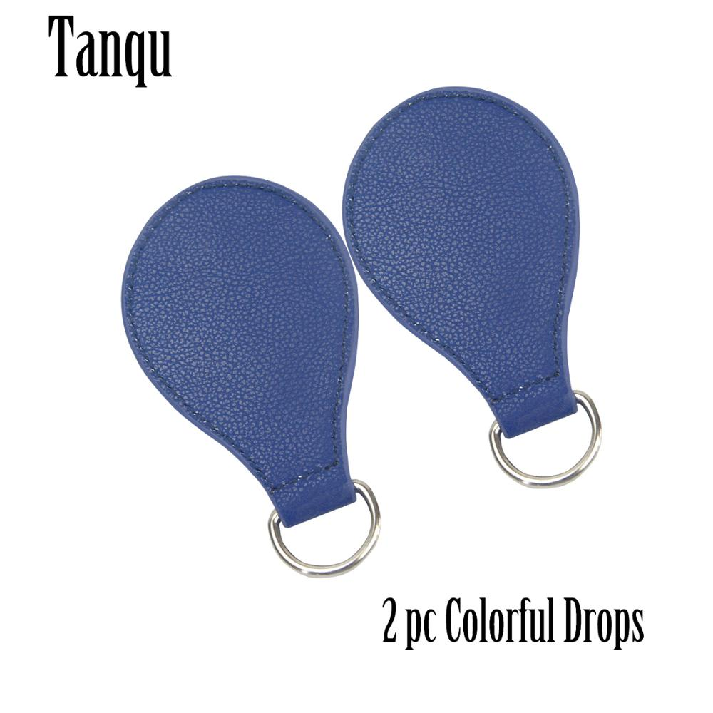TANQU 2019 Upgraded Edge Painting 1 Pair 2 Pc Shiny Drop End For Obag Handle PU Drop Attachment For O Bag Obasket DIY Women Bag