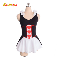 Customized Costume Ice Skating Figure Skating Dress Gymnastics Skirt Competition Black White Adult Child Performance