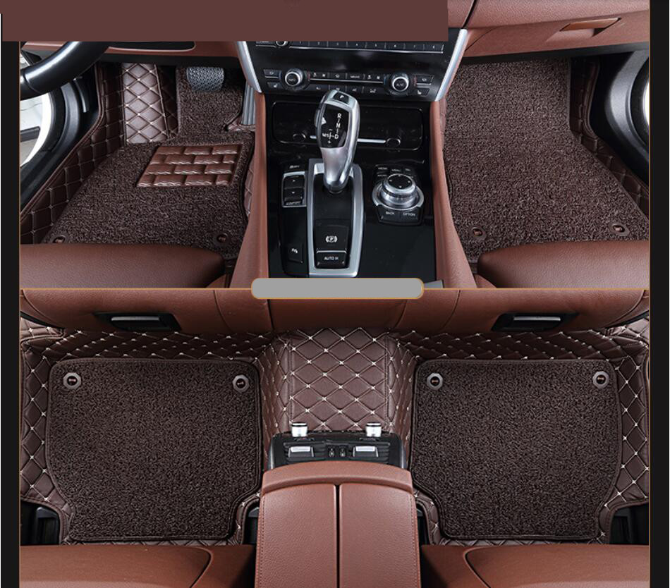 Auto Floor Mats For Hyundai Sonata 9 2015.2016.2017 Foot Carpets Step Mat High Quality Embroidery Leather Wire coil 2 LayerAuto Floor Mats For Hyundai Sonata 9 2015.2016.2017 Foot Carpets Step Mat High Quality Embroidery Leather Wire coil 2 Layer