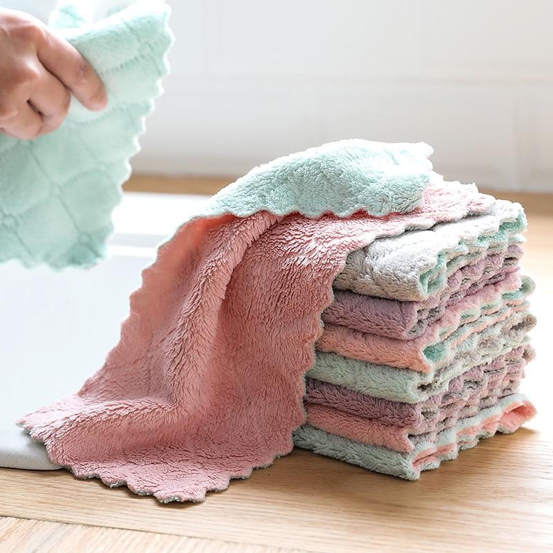 Luluhut 8 шт./лот дома из микрофибры полотенца для кухни абсорбент толще ткань для очистки Micro fiber протрите стол кухонное полотенце