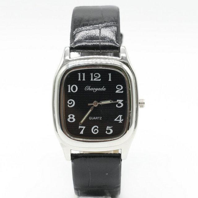 CHAOYADA Free Shipping NEW Fashion Leather Bracelet White Dial Quartz Wrist Watc