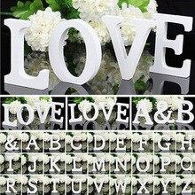 Nicro отдельно стоящие деревянные буквы белые буквы Алфавит Свадьба День Рождения Вечеринка украшения для дома дропшиппинг# ot83