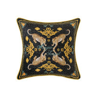 Home Decorative Sofa Throw Pillows Light luxury retro leopard sofa living room cushion cover bed back cushion cover