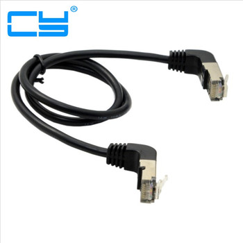 Double Elbow Down & Up Angled 90 Degree cat5e 8P8C FTP STP UTP Cat 5e Ethernet Network Cable RJ45 Lan Patch Cord 0.5m-5m cy 30cm 90 degree down angled stp utp cat 5e male to female panel mount ethernet network extension cable