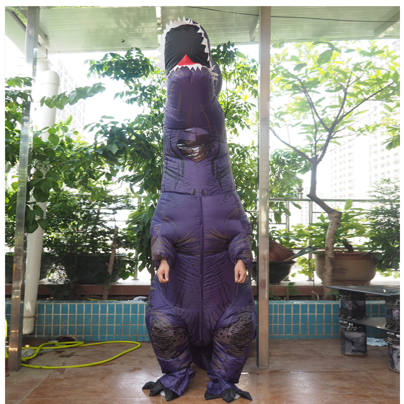 Adult T REX Costume Inflatable Dinosaur Party Costume Suit For Anime disfraces adultos costume Halloween Costumes for Women Men (17)