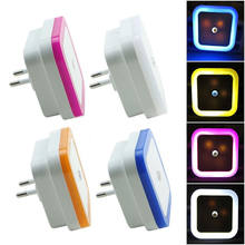 LED night light with sensor lamp toilet light control US EU plug wall lights Baby Bedroom bedside lamp bulb Backlight wc light(China)