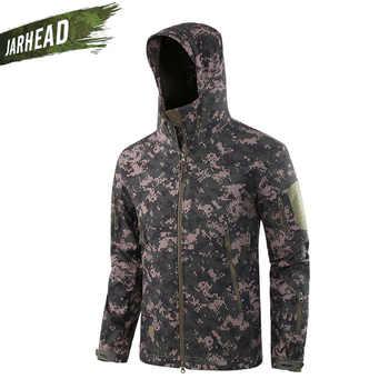 Upgrade! Outdoor Camouflage Waterproof Shark Hiking Softshell Jacket Men\'s Sport Camping Hiking Cycling Tactical Jackets TAD V5