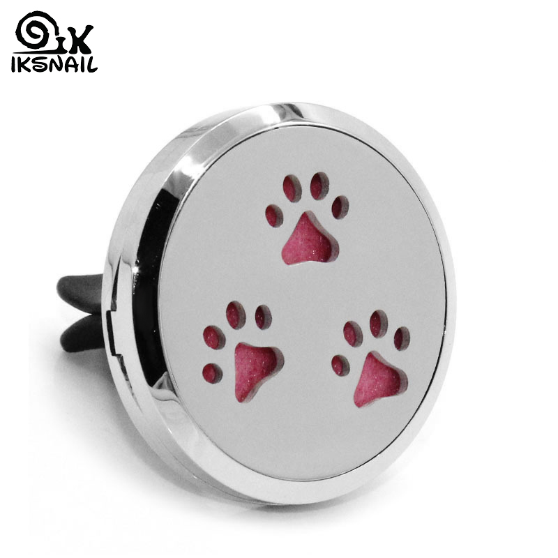 Stainless Steel Hollow Dog Claw Clip Decoration Aromatherapy Essential Oil Diffuser Car Air Conditioning Air Outlet Perfume Clip