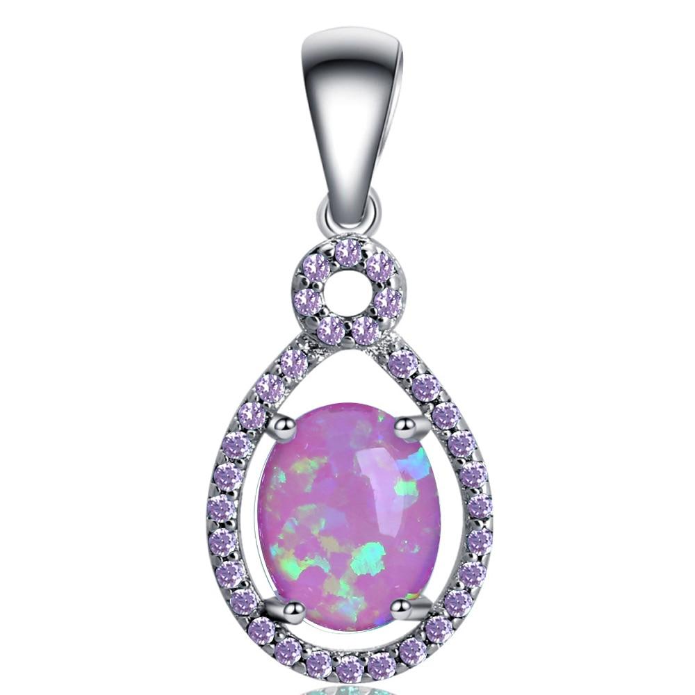 Round Pink Fire Opal 925 Sterling Silver Earring /& Pendant Set Jewelry Accessories Key Chain Bracelet Necklace Pendants