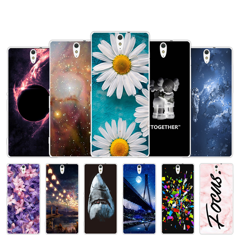 Soft Silicon Case For Sony Xperia C5 Ultra Dual E5533 E5553 Chrysan Design Fashion Gel Cover for Sony Xperia C5 Ultra 6 inch