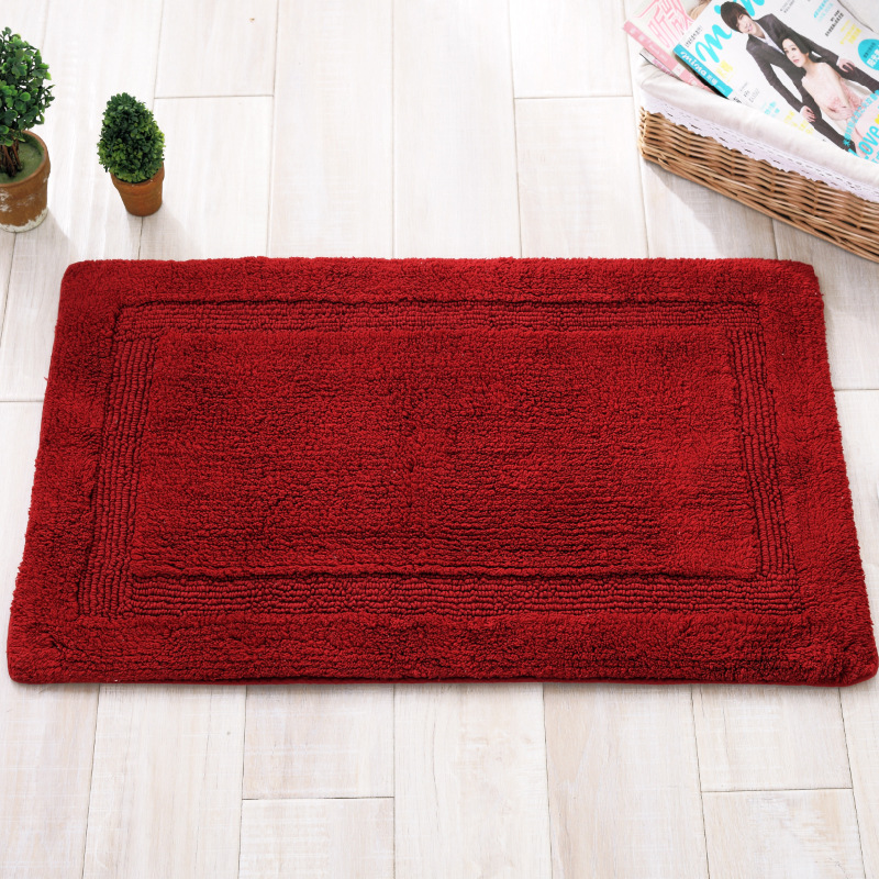 High Quality Home Textile Cotton Mat Sided Solid Anti Slip Rectangular Floor  Mats Kitchen Living Room Bathroom Thick Mat Carpet In Carpet From Home U0026  Garden ...