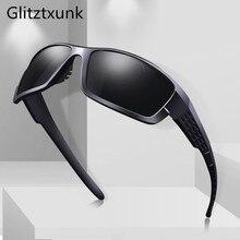 Glitztxunk Polarized Sunglasses Men Women Square Brand Desig