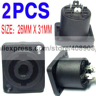 10pcs 4 Pole Speaker Chassis Socket Amplifiers Cable DIY vu table driven plate replacement level bile machine chassis before ta7318p amplifiers
