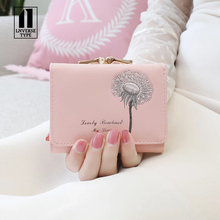 Women Wallets Leather Small Fashion Brand Purse Women Clutch Bags For Women 2019 Ladies Card Bag Female Money Clip Wallet Girls
