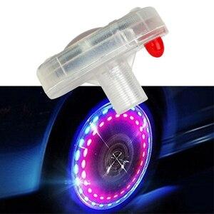 Image 3 - [1 יח ] רכב ואופנוע שמש גלגל אורות דקורטיבי LED צמיג אורות צבעוני שסתום אורות שונה חמים גלגלים אורות