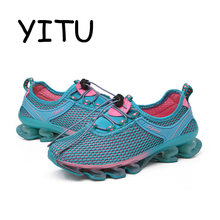 YITU 2018 Summer Women's Mesh Trail Running Shoes Outdoor Breathable Sport Sneaker Jogging Athletic Shoes Woman Gym Shoes Pink(China)