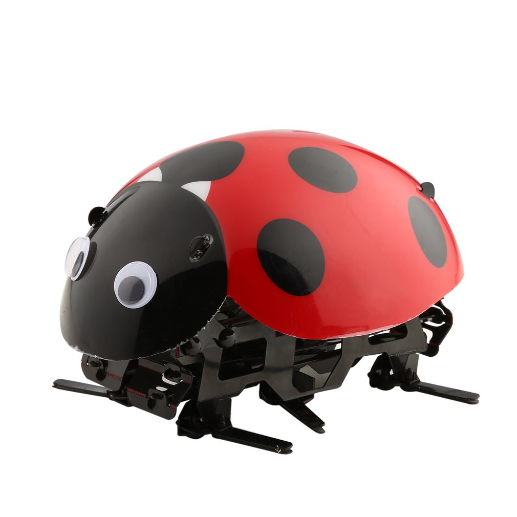 Simulate Ladybug Beetle Remote Control Electronic Toy DIY Kids Birthday Christmas Gift RC Novelty Toy Simulation Scramble Insect