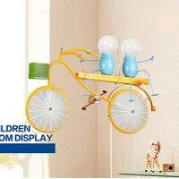 Artpad Современный Железный велосипед Led подвесной светильник детская комната декоративная Лофт поверхностного монтажа дома Развлечения мес