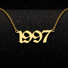 Personalized Gold Chain Number necklaces & pendants Custom Year Necklace for Women year1996 1997 1998 1999 Collar Mujer