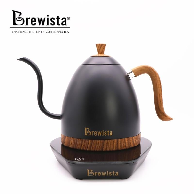 220 velectric 커피 포트 fine mouth brew 커피 포트 커피 주전자 주전자 gooseneck pot600ml-에서커피포트부터 홈 & 가든 의  그룹 1