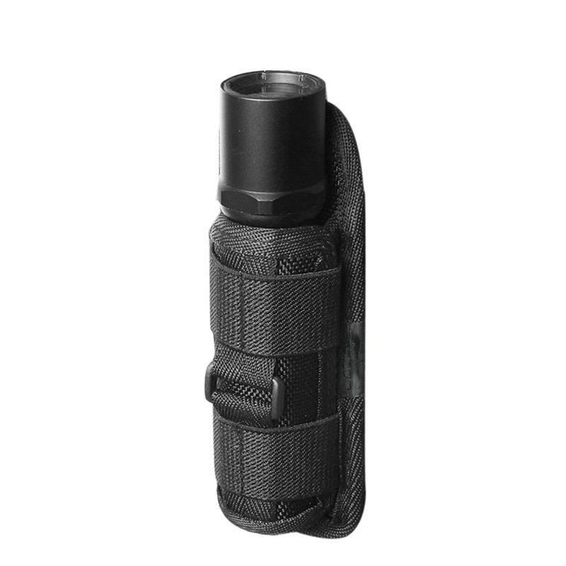 360 Degrees Rotatable Nylon Flashlight Holster Torch Case Pouch Cover Small S je
