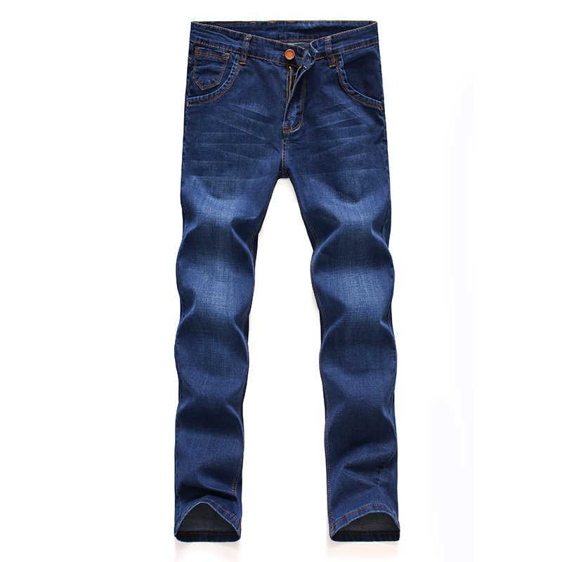 2019, Брендовые мужские джинсы, плотные, зима-осень, стильные джинсы, тонкие, Стрейчевые джинсы, джинсовые штаны, одноцветные, облегающие джинсы, мужские уличные обтягивающие штаны