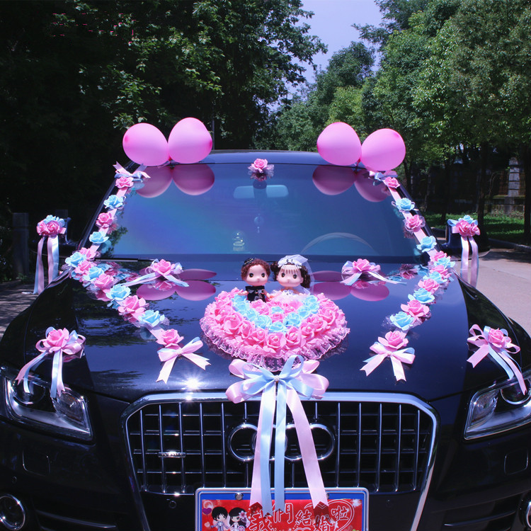 Image 2 - New Arrival  !  Wedding Cars Flower Cars  Wedding Centerpieces  Decor  Motorcade Simulation Flowers Set with Bear  Bridal FlowerParty  DIY Decorations