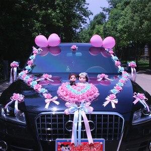 Image 2 - New Arrival  !  Wedding Cars Flower Cars  Wedding Centerpieces Decor  Motorcade Simulation Flowers Set with Bear  Bridal Flower