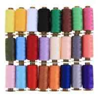 24pcs/set 500 Yards Colorful Machine Embroidery Thread Sewing Polyester Sewing Thread Hand Craft Patch Steering-wheel Supplies