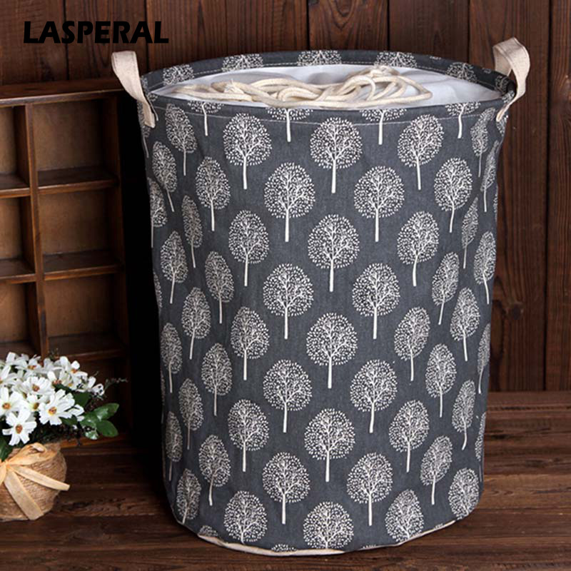 Lasperal 35cmx45cm Folding Drawstring Beam Port Dirty Clothes Laundry Basket For Toy Clothing Storage Bucket Laundry Organizer