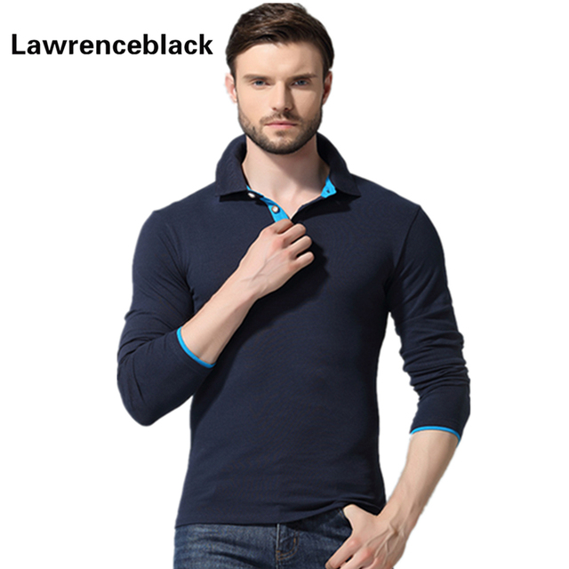 Polo Homme Full  Sleeve  Shirt Men Camisa Polo Masculina Slim Fit Turn Down Collar Hot Sale Long Sleeves Solid Polos Hombre 1216