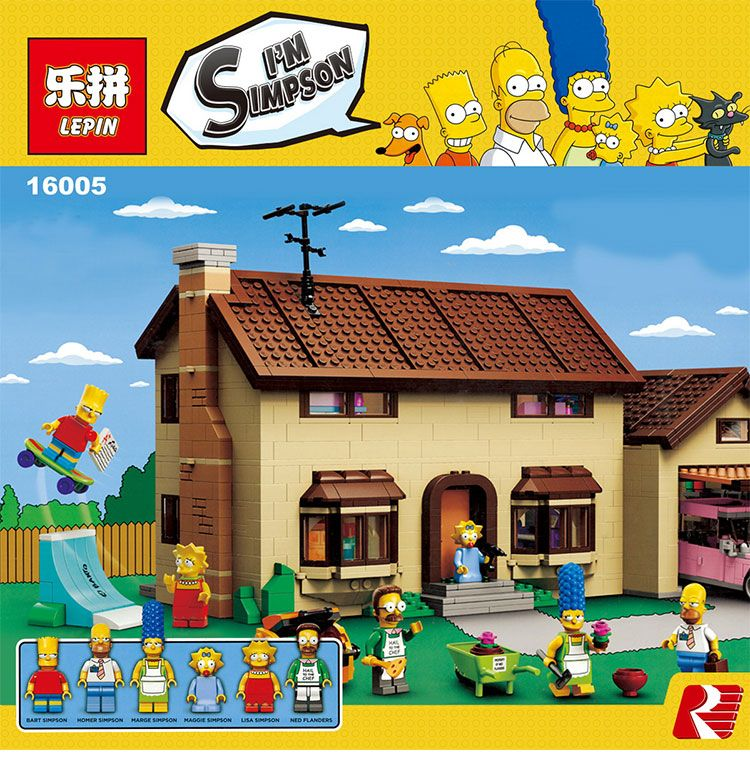 2575pcs The Simpsons House Building Blocks Bricks Set Toy Gift Children Lepin 71006 cultures