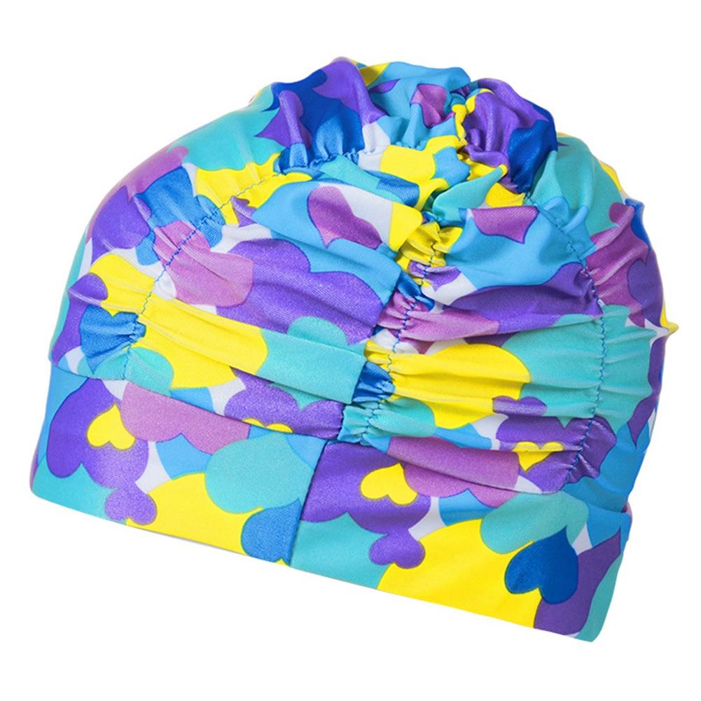 Swimming Cap Flexible Cloth Pool Women Men Ear Protection Elastic Lightweight