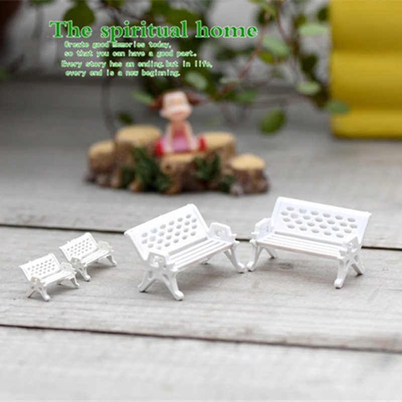 Zocoud مقعد حديقة كرسي بناء نمط تمثال صغير إكسسوارات ديكور منزلي مصغرة ألعاب أطفال التماثيل الحرف ديكور