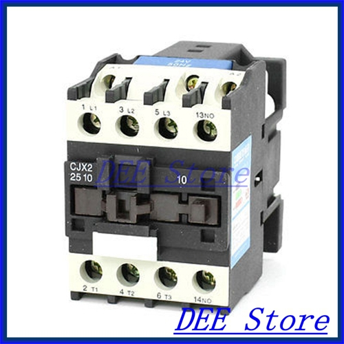 35mm DIN Rail Mounted 3P+1NO 24V Coil 25A AC Contactor CJX2-2510 35mm din rail mounted 3p 1no 380v coil 25a ac contactor cjx2 2510