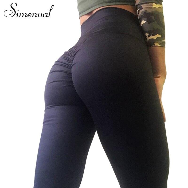 Simenual Push-up hohe taille leggings frauen fitness kleidung 2018 schlank bodybuilding frauen hosen freizeitsport weibliche legging