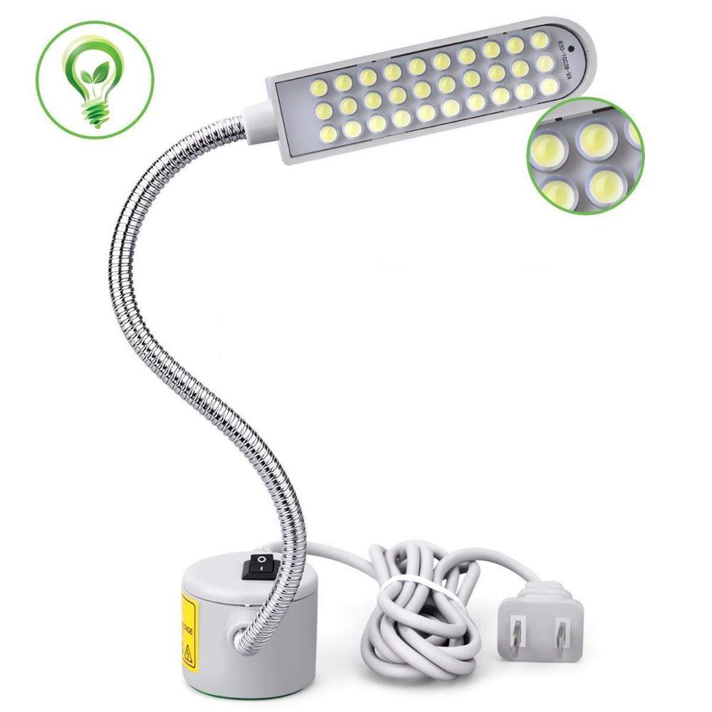 Flexibilní Gooseneck 30 LED noční lampa 220V Magnetická montáž - Noční světla