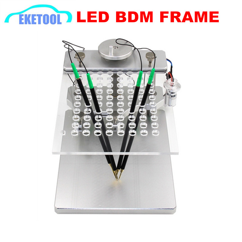 Best Quality Aluminum LED BDM Frame New ECU Programming Tool With 4pcs Probe Holder Stainless Steel ECU Modifier Works KTAG KESSBest Quality Aluminum LED BDM Frame New ECU Programming Tool With 4pcs Probe Holder Stainless Steel ECU Modifier Works KTAG KESS