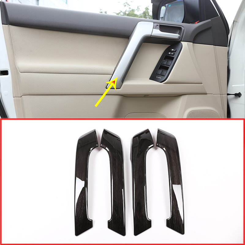 4PS Car ABS font b Interior b font Door Handle Trim For Toyota Land Cruiser Prado