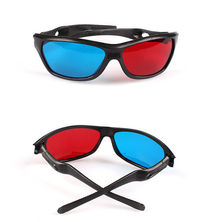 ZUCZUG new  Black Frame Universal 3D Plastic glasses/Oculos/Red Blue Cyan 3D glass Anaglyph 3D Movie Game DVD vision/cinema 4